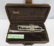 Vincent Bach Stradivarius 37 Trumpet Complete With Case.