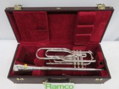 Besson International BE707 Fanfare Trumpet Complete With Case.