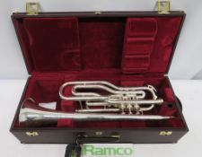 Besson International BE708 Fanfare Trumpet Complete With Case.