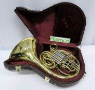 Gebr-Alexander Mainz 103 French Horn Complete With Case.
