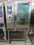 Rational SCC101 10 grid combi oven, 3 phase electric
