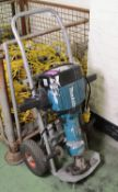 Makita HM1810 Demolition Hammer Drill Elec 110V + Trolley.