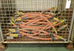 21x Metre Lengths 300mm2 Orange Cable.