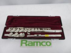 Yamaha 411 Flute Series II With Case. Serial Number: 312000. Please Note That This Item H