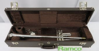 Besson International BE706 Fanfare Trumpet With Case. Serial Number: 842946. Please Note T