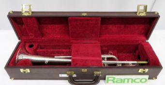 Besson International BE706 Fanfare Trumpet With Case. Serial Number: 882563. Please Note T