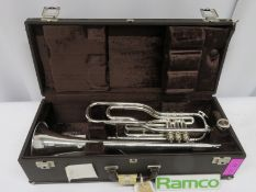 Besson International BE707 Fanfare Trumpet With Case. Serial Number: 867451. Please Note T