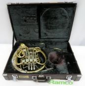 Yamaha YHR 667V French Horn With Case. Serial Number: 002437. This Item Has Not Been Teste