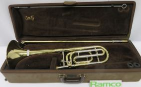 Vincent Bach Stradivarius 42 Tenor Trombone With Case. Serial Number: 19047. Please Note T