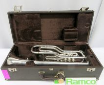 Besson 708 Fanfare Trumpet With Case. Serial Number: 838496. Please Note This Item Has Not
