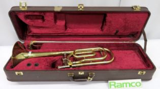 Besson Sovereign Trombone With Case. Serial Number: 841017. Please Note That This Item Has
