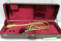 Besson Sovereign Trombone With Case. Serial Number: 826266. Please Note That This Item Ha