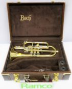 Bach Stradivarius 184 Cornet With Case. Serial Number: 568129. Please Note That This Item