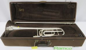 Vincent Bach Stradivarius 42 Tenor Trombone With Case. Serial Number: 12743. Please Note T