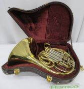 Gebr-Alexander Mainz 103 French Horn With Case. Serial Number: 17837. Please Note That Thi