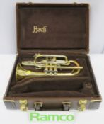 Bach Stradivarius 184 Cornet With Case. Serial Number: 547038. Please Note That This Item