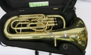 Wilson Euphonium With Case. Serial Number: 2950TA. Please Note This Item Has Not Been Test