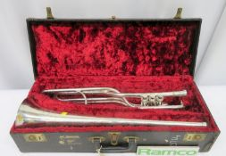 Boosey & Hawkes Imperial Fanfare Trumpet With Case. Serial Number: 335204. Please Note T