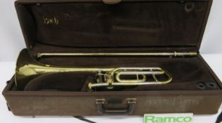 Vincent Bach Stradivarius 42 Tenor Trombone With Case. Serial Number: 18975. Please Note T