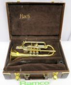 Bach Stradivarius 184 Cornet With Case. Serial Number: 568149. Please Note That This Item