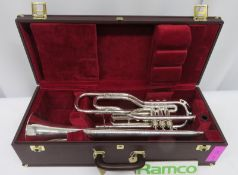 Besson International BE707 Fanfare Trumpet With Case. Serial Number: 883327. Please Note T