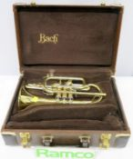Bach Stradivarius 184 Cornet With Case. Serial Number: 551026. Please Note That This Item