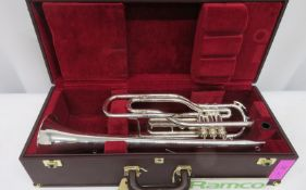 Besson International BE707 Fanfare Trumpet With Case. Serial Number: 883173. Please Note T