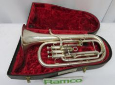 Boosey & Hawkes Imperial Sax Horn With Case. Serial Number: 497256. Please Note This Item