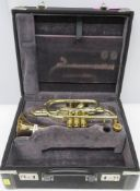 York Preference 302 cornet with case. Serial number: 503102. Please note that this item i