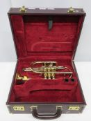Besson Sovereign BE928 cornet with case. Serial number: 868836. Please note that this ite
