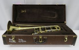 Vincent Bach Stradivarius 50B trombone with case. Serial number: 97382. Please note that t