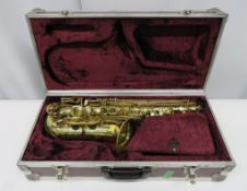 Henri Selmer Super Action 80 Series 2 alto saxophone with case. Serial number: N.616196.