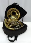 Gebr-Alexander Mainz 103 french horn with case. Serial number: 23511. Please note that th