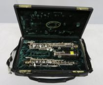 Howarth of London oboe with case. Serial number: 5810. Please note that this item is sold