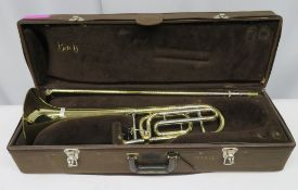 Vincent Bach Stradivarius 42 tenor trombone with case. Serial Number: 19156. Please note t