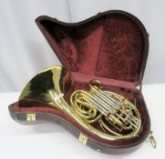 Gebr-Alexander Mainz 103 french horn with case. Serial number: 18718. Please note that thi