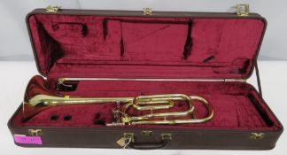 Besson Sovereign 944GS trombone with case. Serial number 841021. Please note that this it