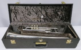 Boosey & Hawkes Imperial tenor trombone with case. Serial number: 566214. Please note tha