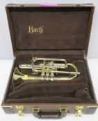 Bach Stradivarius 184 ML cornet with case. Serial number: 540732. Please note that this i