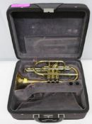 York Eminence 4027 cornet with case. Serial number: 503833. Please note that this item is