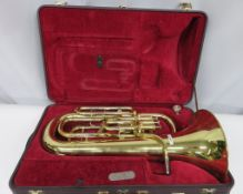 Besson BE967 Sovereign euphoniums with case. Serial number: 883442. Please note that this