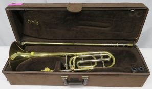 Vincent Bach Stradivarius 42 tenor trombone with case. Serial Number: 15454. Please note t