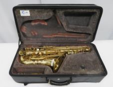 Julius Keilwerth SX90R alto saxophone with case. Serial number: 123697. Please note that