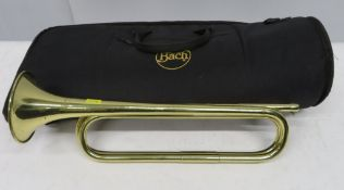 BBIM Ltd 1977 cavalry trumpet with case. Please note that this item is sold as seen with n