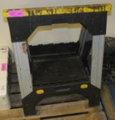 2x Stanley Folding Saw Horses - In need of repair.