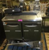 AS SPARES OR REPAIRS - Scanfrost 2 door under counter fridge