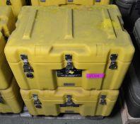 2x Plastic Case Yellow Empty L600 x W400 x H360mm.