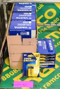 2x Boxes of Varta High Energy 9V Batteries - 50 per box - OUT OF DATE.