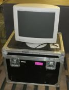 CRT Monitor with transit case