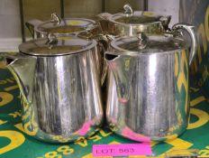 4x EPNS Teapots.